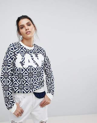 G Star G-Star All Over Tile Print Sweatshirt