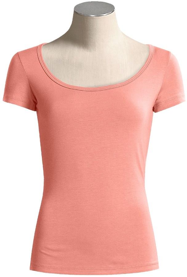 Body Bark Scoop Neck Shirt - Modest, Micromodal®, Short Sleeve (For Women)