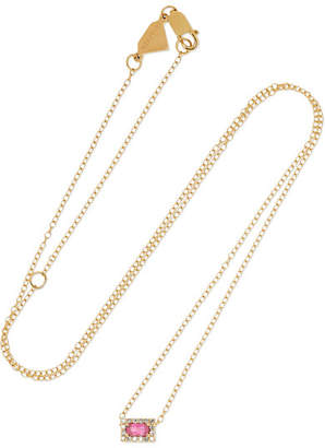Alison Lou 14-karat Gold, Sapphire And Diamond Necklace