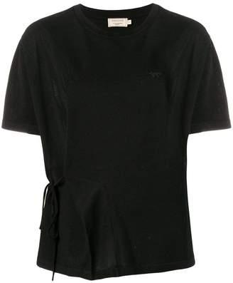 MAISON KITSUNÉ draped style T-shirt