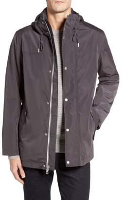 Cole Haan Packable Hooded Rain Jacket