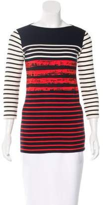 Cédric Charlier Striped Bateau Neck Top