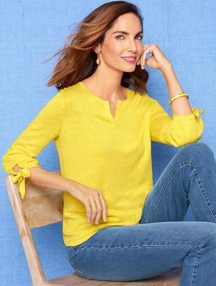 Talbots Hamptons Linen Sweater