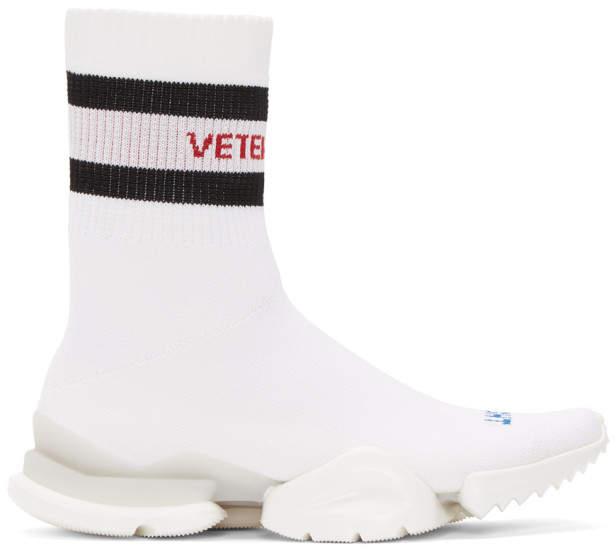 Vetements White Reebok Edition Sock Pump High-Top Sneakers