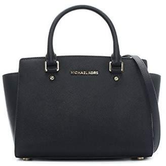 Michael Kors Women's Medium Selma Top-Zip Leather Top-Handle Satchel
