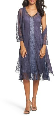 Women's Komarov Embellished Dress & Shawl $418 thestylecure.com