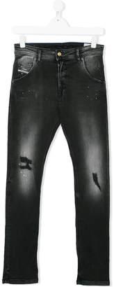 Diesel Teen faded jeans