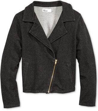 Epic Threads Little Girls' Denim-Look Moto Jacket, Only at Macy's $29.50 thestylecure.com