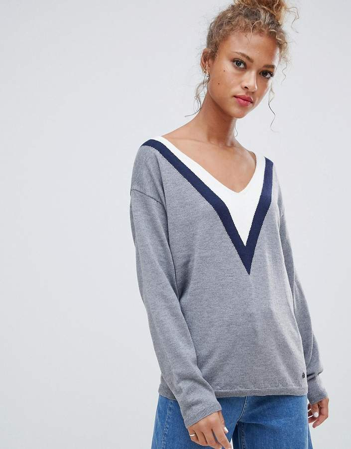 Slade sporty v wool blend jumper
