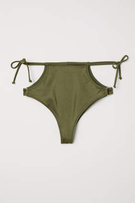 H&M Brazilian Thong Bikini Bottoms - Green