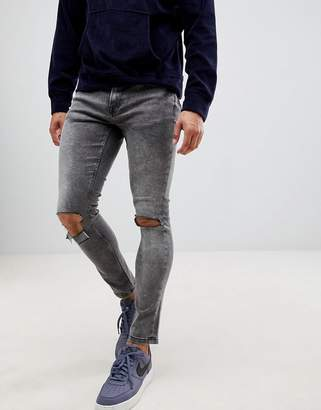 ONLY & SONS Ripped Acid Wash Jeans