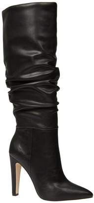 ad470cd9e6d3 Call it SPRING Capucci Ruched Knee High Heeled Boot - Black