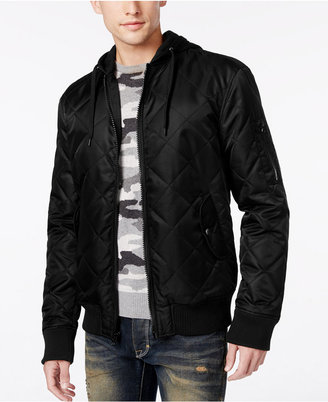 American Rag Men's Quilted Hooded Bomber Jacket, Only at Macy's $80 thestylecure.com