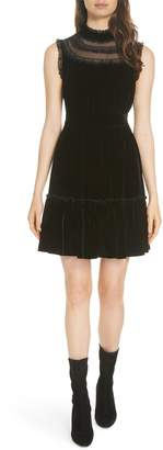 Kate Spade lace trim velvet dress