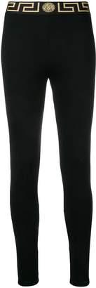 Versace logo waistband leggings