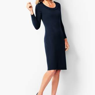Talbots Jewel-Neck Sweater Shift Dress