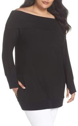 Caslon Off the Shoulder Sweater (Plus Size)