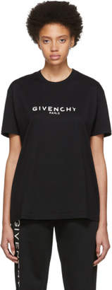 Givenchy Black Blurred Paris T-Shirt