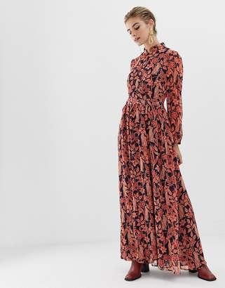 Glamorous maxi dress with high neck in floral leopard print