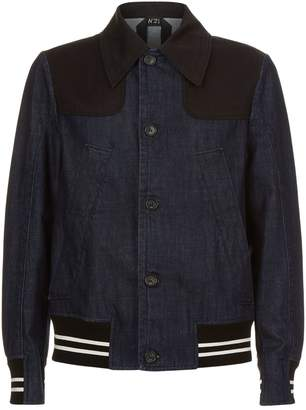 N°21 N 21 Contrast Panel Denim Jacket