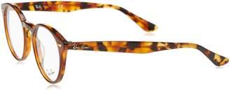Ray-Ban Men's 0RX 2180V 5675 47 Optical Frames Top Brown On Havana YEL