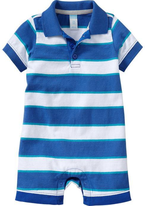 Old Navy Striped Polo One-Pieces for Baby