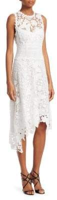 Nanette Lepore Diva Asymmetric Lace Dress