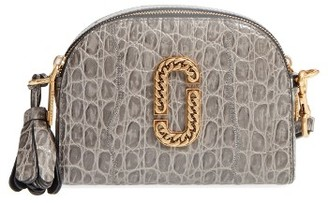 Marc Jacobs Small Shutter Leather Crossbody Bag - Grey $395 thestylecure.com