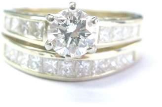 14K Yellow Gold 1.67ct. Diamond Yellow Gold Engagement Wedding Ring Set