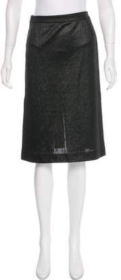 Versus Textured Knee-Length Skirt