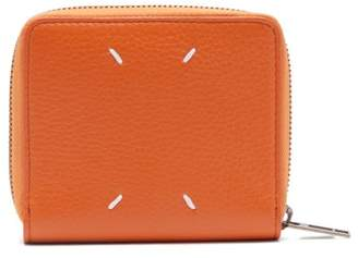 Maison Margiela Grained Leather Wallet - Mens - Orange
