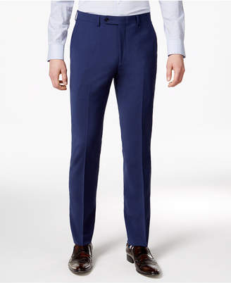 Bar III Men's Skinny Fit Stretch Wrinkle-Resistant Blue Suit Pants