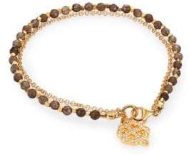 Astley Clarke Biography Smoky Quartz& White Sapphire Four-Leaf Clover Beaded Friendship Bracelet