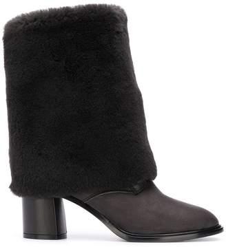 Casadei shearling foldover boots