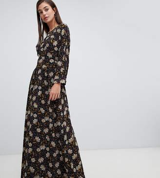 Y.A.S Tall retro floral maxi dress