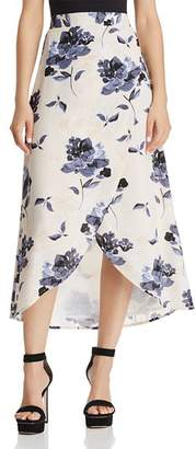 Olivaceous Floral Print Faux-Wrap Skirt - 100% Exclusive
