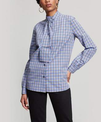 Stella Jean Checked Cotton and Wool Blouse