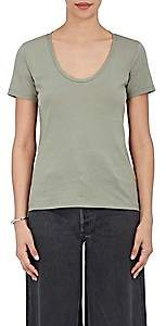 Barneys New York Women's Pima Cotton Scoopneck T-Shirt - Army