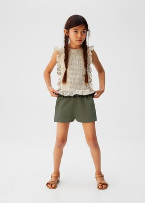 MANGO Drawstring waist shorts