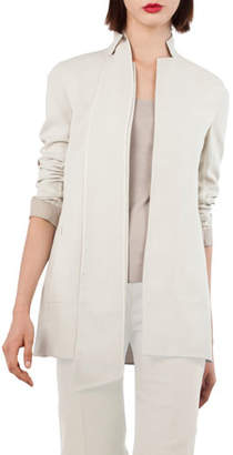 Akris ReverNotch-Collar Wool-Blend Jacket