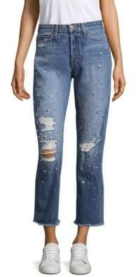 Joe's Jeans Smith Distressed Embellished Ankle Jeans