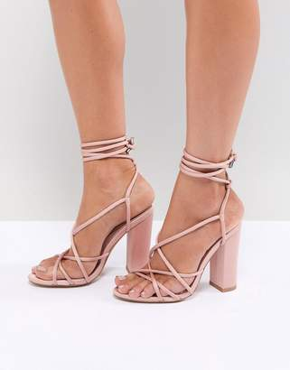Missguided Multi Strap Block Heel Sandals