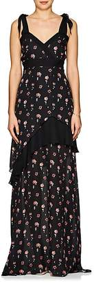 Laura Garcia Collection Women's Laetitia Floral Silk Gown