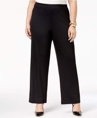Kasper Plus Size Wide-Leg Pants