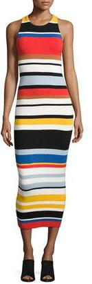 Alice + Olivia Jenner Striped Knit Midi Dress, Multicolor $330 thestylecure.com