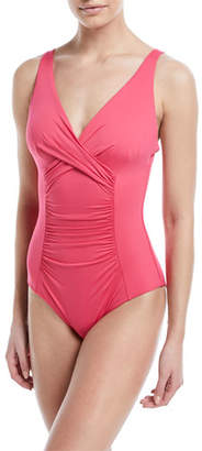 Jets Flora Underwire Ruched One-Piece Swimsuit, E-F Cup