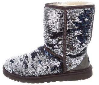 UGG Australia Sequined Classic Short Boots $95 thestylecure.com