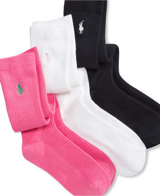 Polo Ralph Lauren 3 Pack Knee High Socks, Little Girls & Big Girls