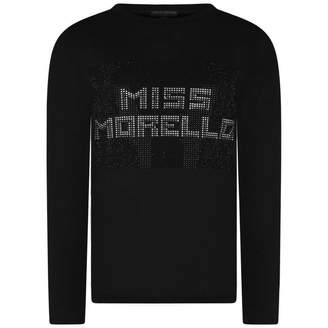 Frankie Morello Frankie MorelloGirls Black Diamante Hooch Top