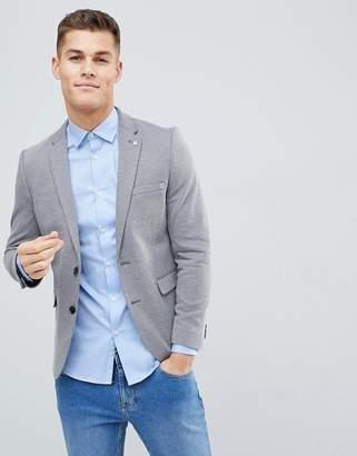 Burton Menswear Slim Jersey Blazer In Grey